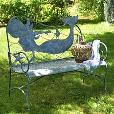 Mermaid Iron Garden Bench | Zaer International | ZR180803