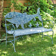 Whale Iron Garden Bench | Zaer International | ZR180802