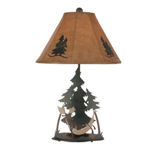 Moose in Hammock Outland Iron Table Lamp | Coast Lamp | 12-R7D