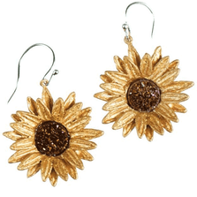 Sunflower Wire Drop Earrings | Michael Michaud Jewelry | SS4956bzbd