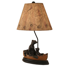 Bear Family Canoe Kodiak Honey Table Lamp | Coast Lamp | 12-R13D