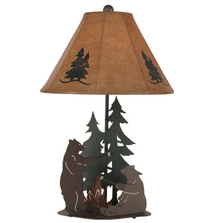 Bears Roasting Marshmallows Outland Iron Table Lamp | Coast Lamp | 12-R18B