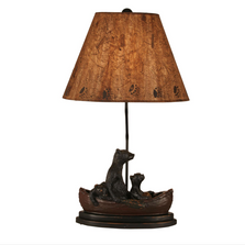 Bear Family in Canoe Riverwoods Table Lamp | Coast Lamp | 12-R19C