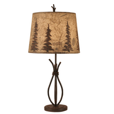 Rust Streaked Iron Stack Accent Lamp with Tree Shade | Coast Lamp | 12-R24D