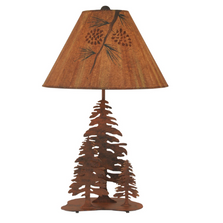 3 Pine Rust Iron Table Lamp with Pinecone Shade | Coast Lamp | 12-R27C