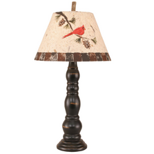 Distressed Black Candlestick Table Lamp with Cardinal Shade | Coast Lamp | 12-R31E
