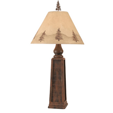 Rust Pyramid Table Lamp with Pine Tree Shade | Coast Lamp | 12-R35C