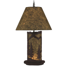 Forest Mountain Scene Table Lamp with Nightlight | Coast Lamp | 15-R4A