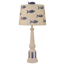School of Fish Nude Stripe Pedestal Table Lamp | Coast Lamp | 12-B13C