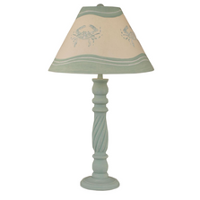 Shaded Cove Swirl Table Lamp with Crab Shade | Coast Lamp | 12-B20B
