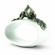 Acorn Stoneware Napkin Ring Set | Vagabond House