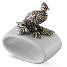 Pheasant Stoneware Napkin Ring Set | Vagabond House