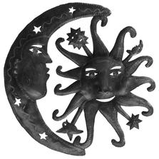 Heavenly Sun Moon Metal Wall Art | Le Primitif