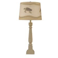 Cottage Shoreline Tan Buffet Lamp with Turtle Shade | Coast Lamp | 12-B20E