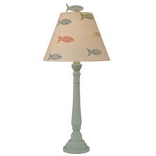 Weathered Shaded Cove Buffet Lamp with School of Fish Shade | Coast Lamp | 12-B21A