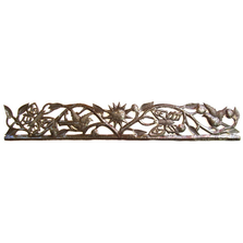Butterfly and Bird Strip Metal Wall Art | Le Primitif