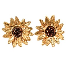Sunflower Petite Post Earrings | Michael Michaud Jewelry | SS4979bzbd