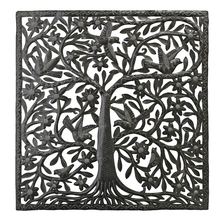 Tree of Life Square Metal Wall Art | Le Primitif