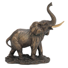 Elephant with Raised Trunk Sculpture | Unicorn Studios