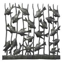 Fish with Reeds Metal Wall Art | Le Primitif