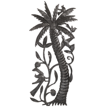 Palm Tree and Birds Metal Wall Art | Le Primitif