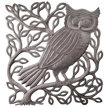 Owl on Branch Metal Wall Art | Le Primitif