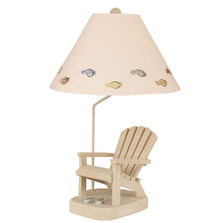 Weathered Sage Adirondack Chair Lamp with Flip Flops Shade | Coast Lamp | 12-B22F