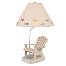 Cottage Adirondack Chair Table Lamp with Blue Flip Flops | Coast Lamp | 12-B22G
