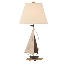 Distressed Nautical Iron Sailboat Table Lamp | Coast Lamp | 12-B25D