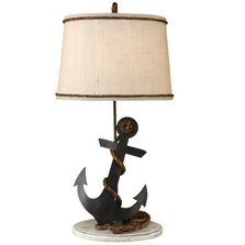 Tarnished Anchor Iron Table Lamp | Coast Lamp | 14-B4A