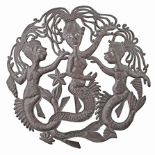 Mermaid Sisters Metal Wall Art | Le Primitif