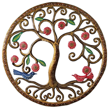 Blooming Shrub Painted Metal Wall Art | Le Primitif