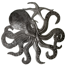 Octopus Metal Wall Art   Le Primitif