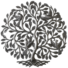 Four Birds in Tree Metal Wall Art | Le Primitif