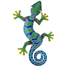 Gecko Large Painted Metal Wall Art | Le Primitif