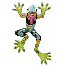Frog Painted Metal Wall Art   Le Primitif
