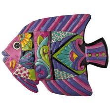 Fish Painted Metal Wall Art | Le Primitif