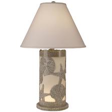 Paradise Multi Shell Table Lamp with Nightlight | Coast Lamp | 16-B15A