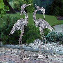 Crested Egrets Sculpture Set of 2 | SPI Home
