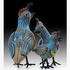 Quail Papa Figurine | FQP | Polymer Clay Quail Sculpture | Fimo Creations