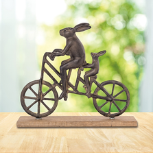 Rabbit and Child on Bicycle Sculpture | SPI Home