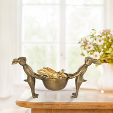 Rabbit Pair Jewelry Holder Bowl | SPI Home