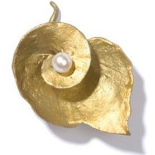 Spiral Geranium Pin with Pearl | Michael Michaud Jewelry | SS5550bzwp -2