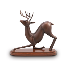 Deer Stretching Desktop Sculpture | SPI Home