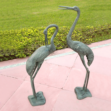 Long Necked Crane Garden Sculpture Pair | SPI Home