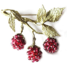 Raspberry Pin | Michael Michaud Jewelry | SS5554bzgn -2