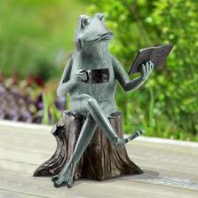 "Frog Garden Sculpture ""Joy of Reading"" | SPI Home"