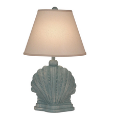 Weathered Atlantic Grey Scallop Shell Mini Table Lamp | Coast Lamp | 17-B56A