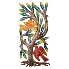 Birds in Tree Painted Metal Wall Art | Le Primitif