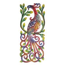 Peacock Painted Metal Wall Art | Le Primitif